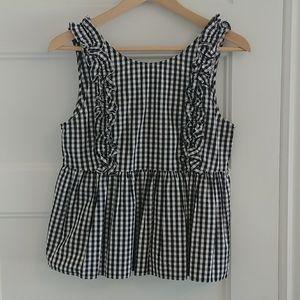 Zara gingham blouse super cute!!! Small